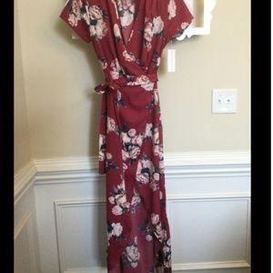 🆕 Rose maxi wrap dress size 2X